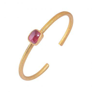 pink tourmaline cuff