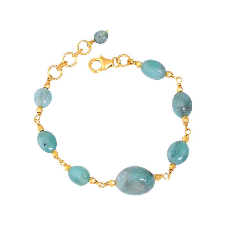 emerald mani bracelet