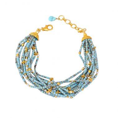 turquoise tubes bunch bracelet