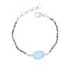silver black plated chalcedony bracelet